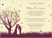Wedding Invitation - fall leaf