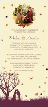 Wedding Invitation with photo - fall leaf