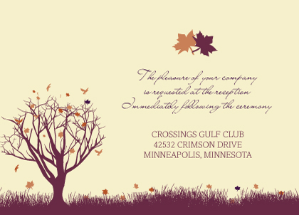 Reception Card - Fall Leaf