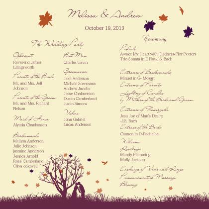 Program - Fall Leaf