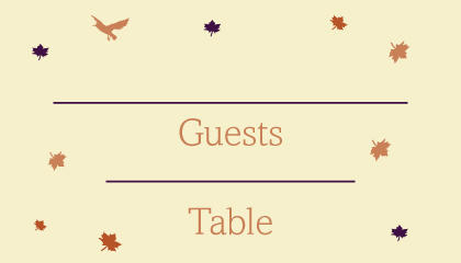 Place Card - Fall Leaf
