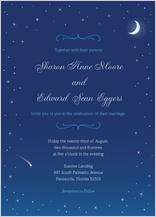 Wedding Invitation - starry night