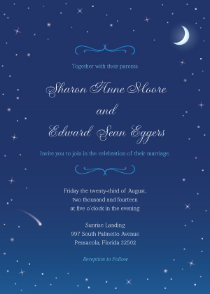 Starry Night Wedding Invitation Look Love Send