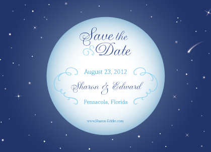 Save the Date Card - Starry Night