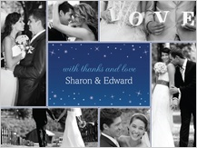 Wedding Thank You Card with photo - starry night