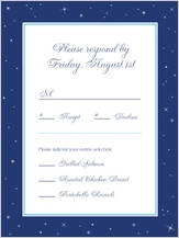 Response Card with menu options - starry night