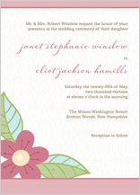 Wedding Invitation - blossoms