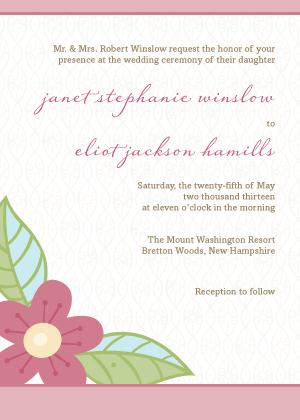 Wedding Invitation - Blossoms