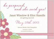 Save the Date Card - blossoms