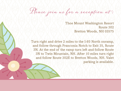 Reception Card - Blossoms