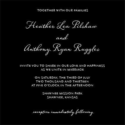 Wedding Invitation - Unconditional
