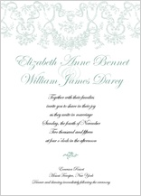 Wedding Invitation - antique lace