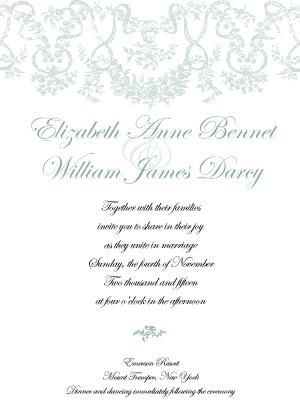 Wedding Invitation - Antique Lace