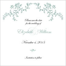 Save the Date Card - antique lace
