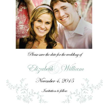 Save the Date Card with photo - Antique Lace