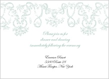 Reception Card - antique lace