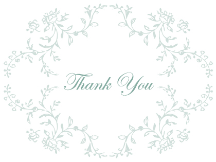 Wedding Thank You Card - Antique Lace