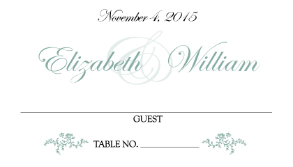 Place Card - Antique Lace