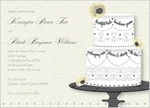 Wedding Invitation - wedding cake (words)