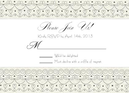 Response Card - Wedding Cake (Words)