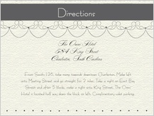 Direction - wedding cake (words)