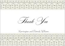 Wedding Thank You Card - wedding cake (words)