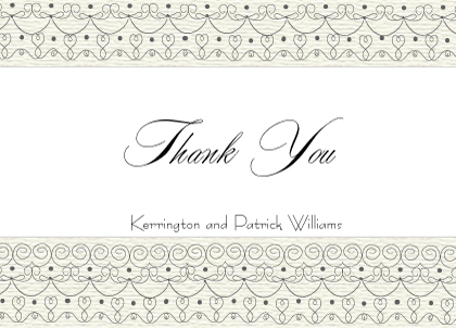 Wedding Thank You Card - Wedding Cake (Words)