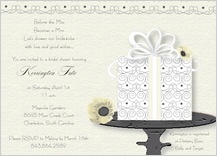 Wedding Shower Invitation - wedding cake (words)
