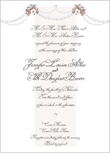 Wedding Invitation - wedding pearls