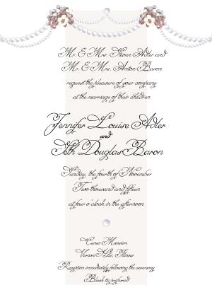 Wedding Invitation - Wedding Pearls