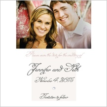 Save the Date Card with photo - wedding pearls
