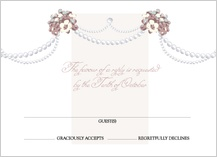 Response Card - wedding pearls
