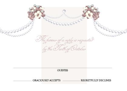 Response Card - Wedding Pearls