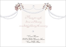 Reception Card - wedding pearls