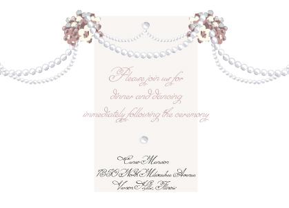 Reception Card - Wedding Pearls