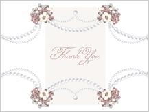 Wedding Thank You Card - wedding pearls