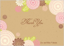 Thank You - kimono floral thank you