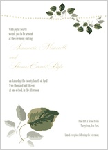 Wedding Invitation - wedding greenery