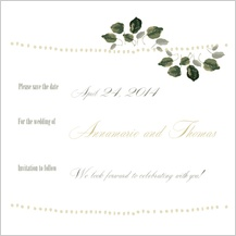 Save the Date Card - wedding greenery