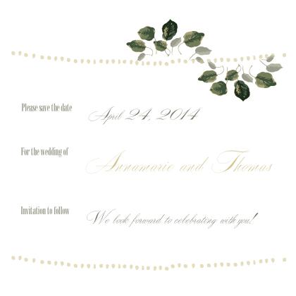 Save the Date Card - Wedding Greenery