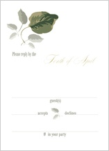 Response Card - wedding greenery