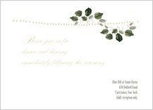 Reception Card - wedding greenery