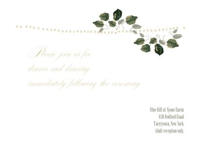 Reception Card - Wedding Greenery