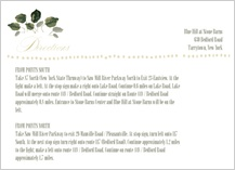 Direction - wedding greenery