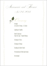 Program - wedding greenery