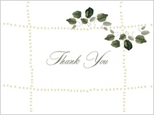 Wedding Thank You Card - wedding greenery