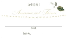 Place Card - wedding greenery