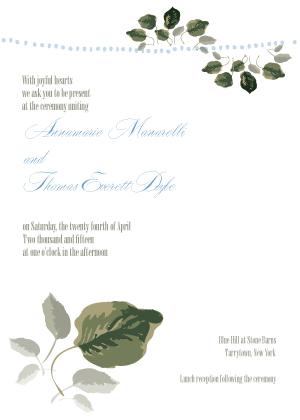 Wedding Invitation - Wedding Greenery