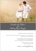 Wedding Invitation with photo - strength