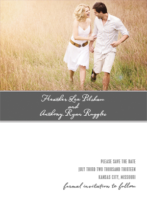 Save the Date Card with photo - Strength